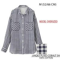 Baju Branded Wanita - UNIQLO 63 PLAID COBALT SH