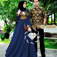 in baju couple cople kapel samaan pasangan kemeja batik gamis