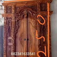 gebyok pintu rumah kayu jati