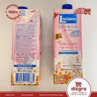 Lactasoy collagen 1 L soy milk susu kedelai