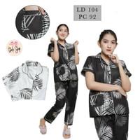 Baju Tidur Piyama Wanita/Cewek Pajamas Dewasa Motif Big Coco Daun