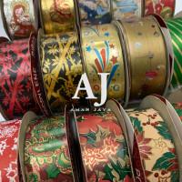 Pita Natal / Pita Kado Motif Merry Christmas 3 cm