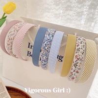 Bando wanita korea bandana polos premium fashion cantik seoul headband