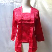 baju kebaya kutubaru merah S