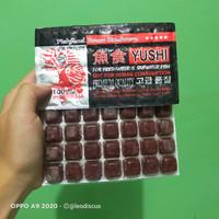 makanan ikan cacing beku cabek kapsul YUSHI