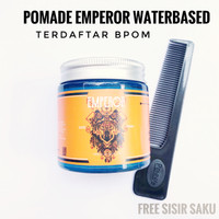 SYDROM POMADE EMPEROR WATERBASED STRONG HOLD 120 gram FREE SISIR BPOM
