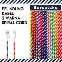 Kabel Pelindung Kabel Data 2 tone warna Cord USB Tali Cable Protector
