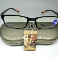 kacamata baca,plus blue ray anti radiasi, frame elastis lentur