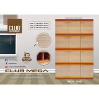 Lemari Plastik-Lemari Pakaian Susun 4 Club 12 Pintu Mega Susun 4