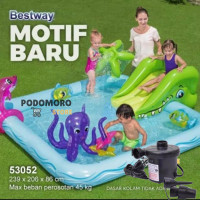Kolam Renang Anak Fantastic Aquarium Play Pool Bestway - 53052