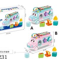 Mainan baby Xylophone bus all in 1 mendukung pertumbuhan anak anak