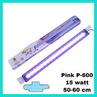 Lampu aquarium lampu led Pink SPA P-600 lampu aquarium arwana 50-60 cm