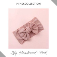 Lily Bow Baby Headband cotton pita Bando Bandana Turban Anak Bayi