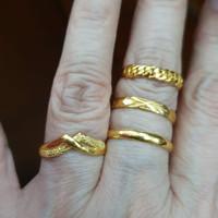 Cincin emas kuning asli 24k / cincin kawin emas asli 24 karat 99% 99