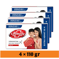 lifebuoy total 10 sabun batang 110 gr isi 4