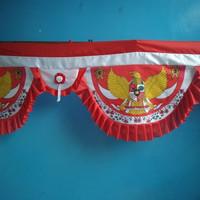 bendera merah putih background bendera garuda 5 gelombang