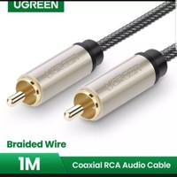 Ugreen kabel digital coaxial RCA audio male to cowo video amplifier 1m - 1 METER - 20736