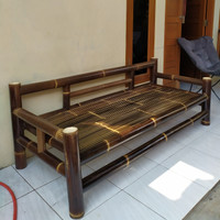 Kursi Bambu Hitam (Panjang & Lebar)