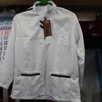 Baju koko model zip putih polos untuk SD kelas 6 atau SMP
