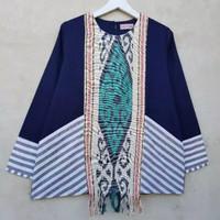 Atasan Batik Wanita Tenun Mix Lurik Jumbo Size