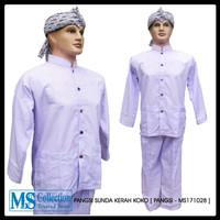 baju pangsi sunda kerah koko putih polos