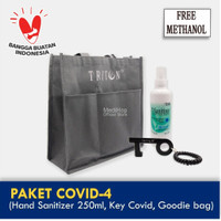 Paket Covid-4 (Hand Sanitizer 250ml, Key Covid & Goodie bag)