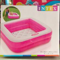 Bak mandi kolam renang anak mini kotak pink