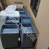 Bak Tahu / Litterbox / Bak Abu - Abu (SIZE P40*L31*T12)
