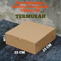 BOX DUS KARTON PACKING KOTAK MAKAN POLOS SERBAGUNA 25 CM MURAH