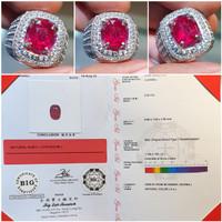 Batu Pigeon Blood Ruby Burma Myanmar Sertifikat 2.24 crt