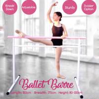 Ballet Barre kokoh, adjustable, bongkar pasang, cantik