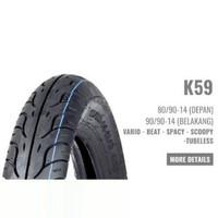 Ban Motor HONDA AHM K59 A12 80/90-14 (Tubeless) Matic Vario Beat Spacy