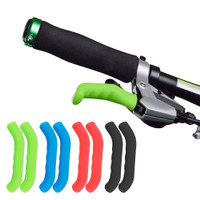 Silikon case cover pelindung handle rem tangan sepeda anti slip - Hitam