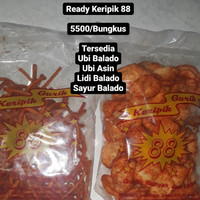 Kripik 88 Ubi / Lidi / Sayur / Makaroni