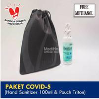 Paket Covid-5 (Hand Sanitizer 100ml & Pouch Triton)