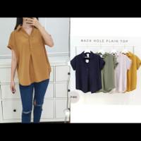 Blouse oversized lengan pendek polos C9012 / Baju atasan wanita blouse