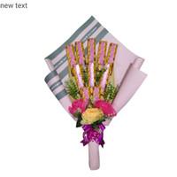 Bucket Coklat + bunga, Wisuda,Sidang, Anniv, Valentine.(custem kertas)