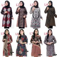 Atasan Wanita Terbaru | Baju Batik Wanita Tunik Batik wanita Termurah