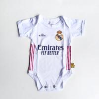 Baju Kaos Bola Bayi Anak Perempuan Laki Lucu I Real Madrid Home