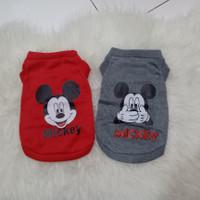 Baju anjing, dog shirt, dog clothes, Mickey Mouse