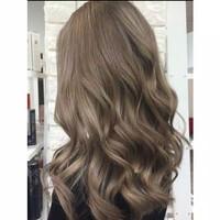 cat rambut colore fresco grey abu abu Ash brown