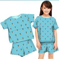 baju setelan anak perempuan gucci mickey umur 6-12 tahun/ baju murah
