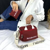 tas wanita murah import marhen kd.01 uk.25x20 free dompet bahan kanvas
