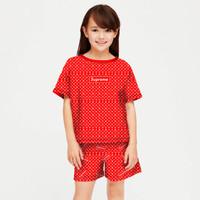 baju setelan anak perempuan model supreme umur 6-12 tahun/fashion anak