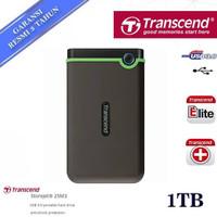 Hardisk Eksternal Transcend StoreJet 25M3 1 TB USB 3.0 - Hitam