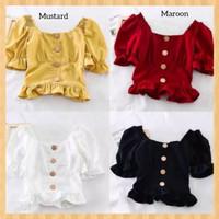 baju atasan anak perempuan 12-19thn blouse sabrina blus tunik hitam