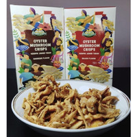 Keripik jamur tiram organic tanpa tepung