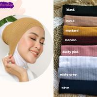 Ciput Inner Bandana Hijab Rajut Polos Tidak Panas Nyaman Premium