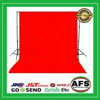 Background foto kain polos 2,5 x 3 meter warna merah