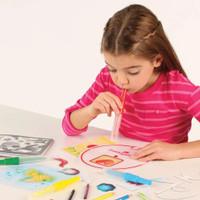 Mainan Edukasi Anak Blow Pens Airbrush Effects / Art Craft Rix